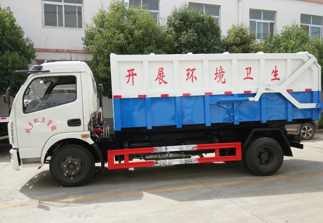 国五东风凯普特挂桶对接式垃圾车