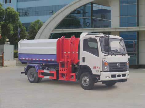 国五东风自装卸式垃圾车