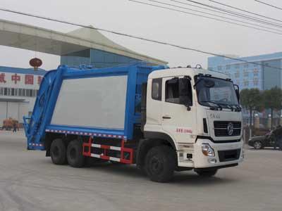 国五东风天龙后双桥压缩式垃圾车